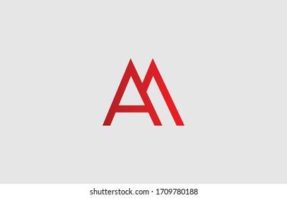 Initial based clean and minimal letter. AM MA logo creative fonts monogram icon symbol. Universal elegant luxury alphabet vector design