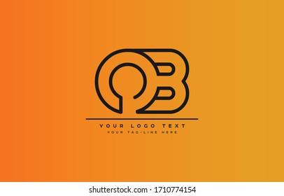 Initial based clean and minimal letter. BO OB B O logo creative fonts monogram icon symbol. Universal elegant luxury alphabet vector design