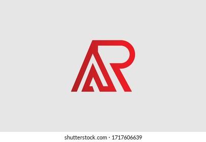 Initial based clean and minimal letter. AR RA logo creative fonts monogram icon symbol. Universal elegant luxury alphabet vector design