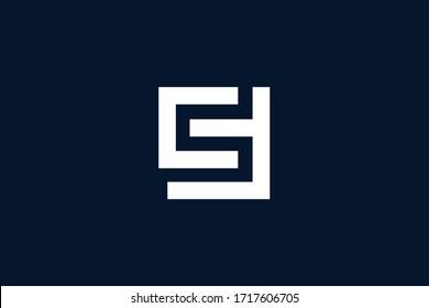 Initial based clean and minimal letter. CF CS logo creative and monogram icon symbol. Universal elegant luxury alphabet vector design
