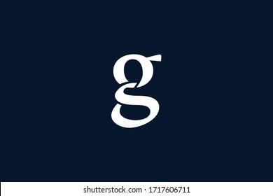 Initial based clean and minimal letter. GS logo creative and monogram icon symbol. Universal elegant luxury alphabet vector design