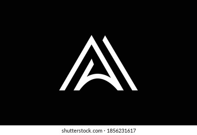 Initial based clean and minimal letter. MA AM M logo creative and monogram icon symbol. Universal elegant luxury alphabet vector design