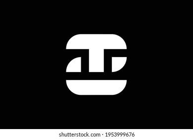 Initial based clean and minimal letter. ZT TZ Z T logo creative fonts monogram icon symbol. Universal elegant luxury alphabet vector design