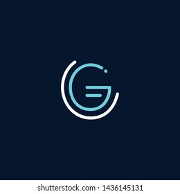 Initial based clean and minimal Logo. GG CG GC C letter creative monochrome monogram icon symbol. Universal elegant luxury alphabet vector emblem design