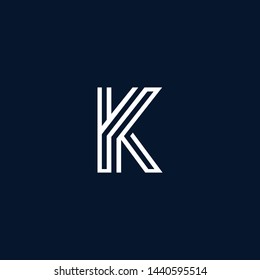 Initial based clean and minimal Logo. K KY YK Y letter creative monochrome monogram icon symbol. Universal elegant luxury alphabet vector emblem design