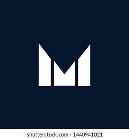 Initial based clean and minimal Logo. MM M letter creative monochrome monogram icon symbol. Universal elegant luxury alphabet vector emblem design