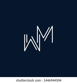 Initial based clean and minimal Logo. MW WM M W letter creative monochrome monogram icon symbol. Universal elegant luxury alphabet vector design