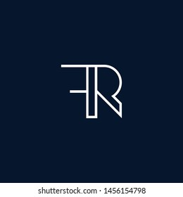 Initial based clean and minimal Logo. FR RF R F letter creative monochrome monogram icon symbol. Universal elegant luxury alphabet vector design