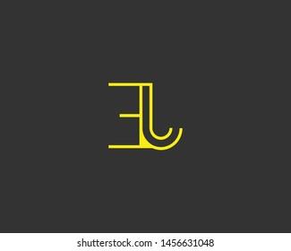 Initial based clean and minimal Logo. EJ JE E J letter creative monochrome monogram icon symbol. Universal elegant luxury alphabet vector design