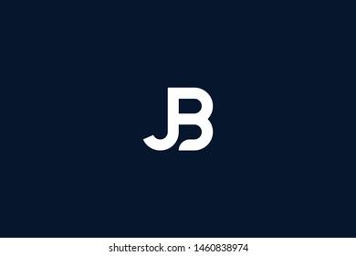 Initial based clean and minimal Logo. BJ JB J B letter creative monochrome monogram icon symbol. Universal elegant luxury alphabet vector design
