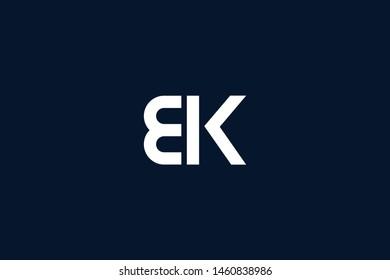 Initial based clean and minimal Logo. BK KB K B letter creative monochrome monogram icon symbol. Universal elegant luxury alphabet vector design