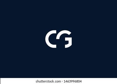 Initial based clean and minimal Logo. CG GC G C letter creative monochrome monogram icon symbol. Universal elegant luxury alphabet vector design