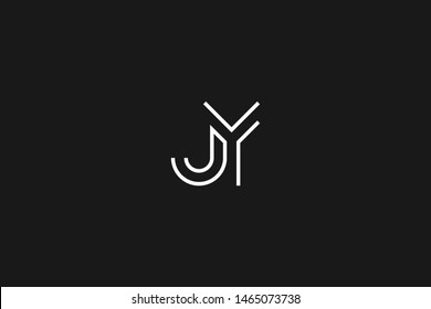 Initial based clean and minimal Logo. JY YJ J Y letter creative monochrome monogram icon symbol. Universal elegant luxury alphabet vector design