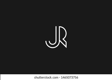 Initial based clean and minimal Logo. JR RJ J R letter creative monochrome monogram icon symbol. Universal elegant luxury alphabet vector design