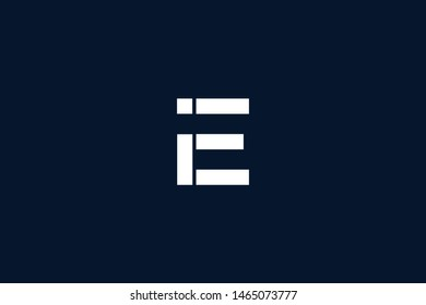 Initial based clean and minimal Logo. EI IE II E letter creative monochrome monogram icon symbol. Universal elegant luxury alphabet vector design