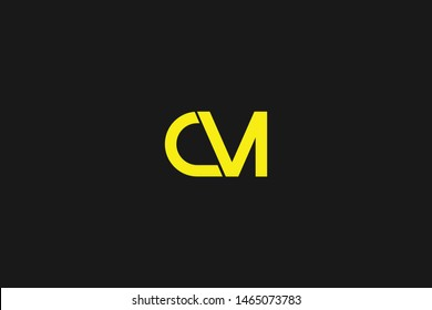 Initial based clean and minimal Logo. CM MC C M letter creative monochrome monogram icon symbol. Universal elegant luxury alphabet vector design