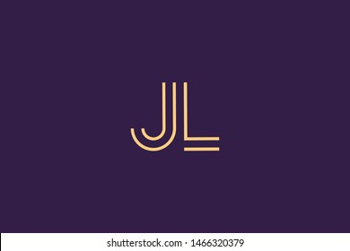 Initial based clean and minimal Logo. LJ JL L J letter creative monochrome monogram icon symbol. Universal elegant luxury alphabet vector design