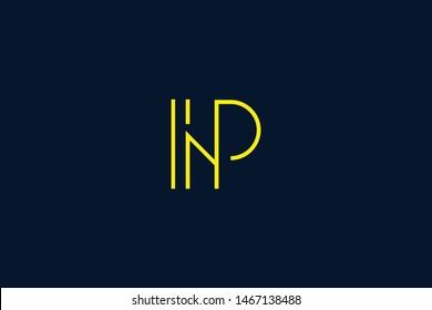 Initial based clean and minimal Logo. NP PN N P letter creative monochrome monogram icon symbol. Universal elegant luxury alphabet vector design