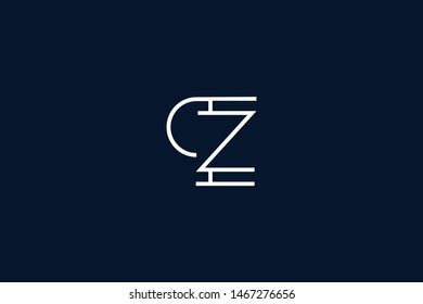 Initial based clean and minimal Logo. PZ ZP P Z letter creative monochrome monogram icon symbol. Universal elegant luxury alphabet vector design