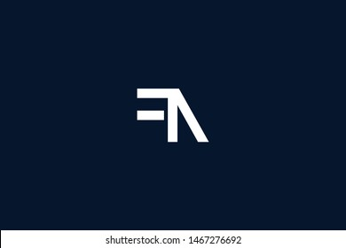 Initial based clean and minimal Logo. FN NF F N letter creative monochrome monogram icon symbol. Universal elegant luxury alphabet vector design