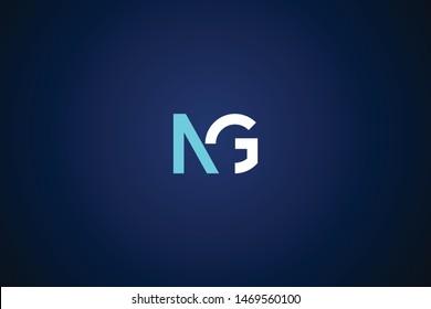 Initial based clean and minimal Logo. GN NG G N letter creative monochrome monogram icon symbol. Universal elegant luxury alphabet vector design