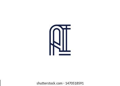 Initial based clean and minimal Logo. AI IA A II letter creative monochrome monogram icon symbol. Universal elegant luxury alphabet vector design