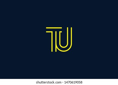 Initial based clean and minimal Logo. TU UT T U letter creative monochrome monogram icon symbol. Universal elegant luxury alphabet vector design