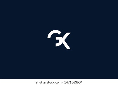 Initial based clean and minimal Logo. KG GK K G letter creative monochrome monogram icon symbol. Universal elegant luxury alphabet vector design