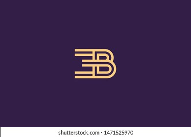 Initial based clean and minimal Logo. BE EB B E letter creative technology monogram icon symbol. Universal elegant luxury alphabet vector design