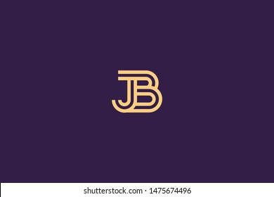 Initial based clean and minimal Logo. BJ JB B J letter creative technology monogram icon symbol. Universal elegant luxury alphabet vector design