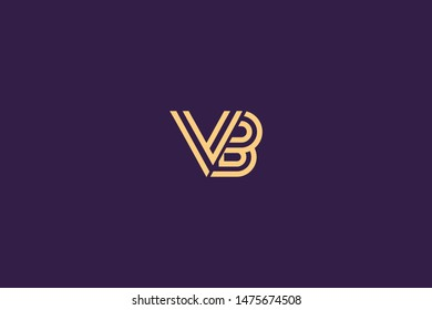 Initial based clean and minimal Logo. BV VB B V letter creative technology monogram icon symbol. Universal elegant luxury alphabet vector design