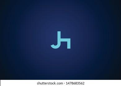 Initial based clean and minimal Logo. HJ JH H J letter creative monochrome monogram icon symbol. Universal elegant luxury alphabet vector design