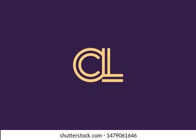 Initial based clean and minimal Logo. CL LC C L letter creative monochrome monogram icon symbol. Universal elegant luxury alphabet vector design