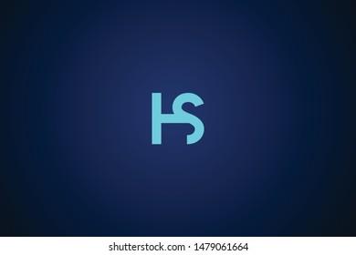 Initial based clean and minimal Logo. HS SH H S letter creative monochrome monogram icon symbol. Universal elegant luxury alphabet vector design