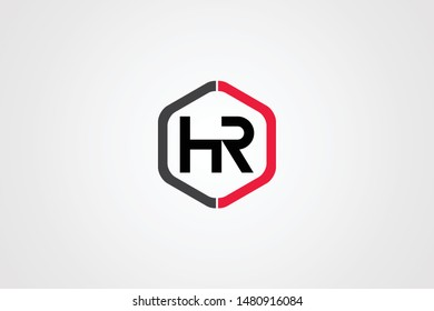 Initial based clean and minimal Logo. HR RH H R  letter creative monochrome monogram icon symbol. Universal elegant luxury alphabet vector design