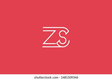 Initial based clean and minimal Logo. ZS SZ Z S letter creative technology monogram icon symbol. Universal elegant luxury alphabet vector design