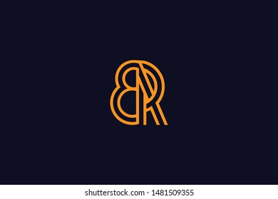 Initial based clean and minimal Logo. BR RB B R letter creative technology monogram icon symbol. Universal elegant luxury alphabet vector design