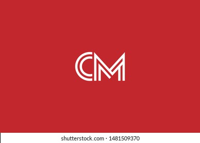 Initial based clean and minimal Logo. CM MC C M letter creative technology monogram icon symbol. Universal elegant luxury alphabet vector design
