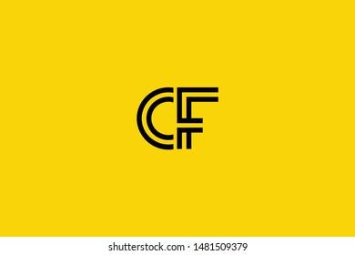 Initial based clean and minimal Logo. CF FC C F letter creative technology monogram icon symbol. Universal elegant luxury alphabet vector design
