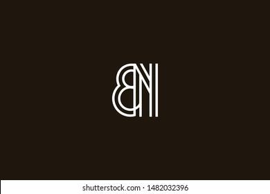 Initial based clean and minimal Logo. BN NB B N letter creative monochrome monogram icon symbol. Universal elegant luxury alphabet vector design