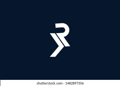 Initial based clean and minimal Logo. KR RK K R letter creative monochrome monogram icon symbol. Universal elegant luxury alphabet vector design
