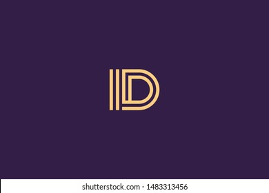 Initial based clean and minimal Logo. DI ID D II letter creative technology monogram icon symbol. Universal elegant luxury alphabet vector design
