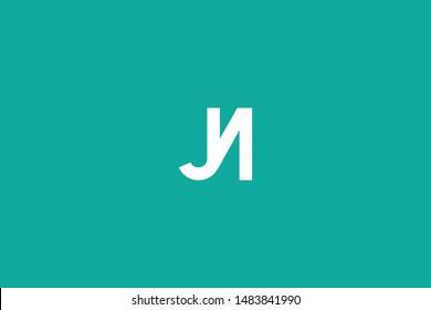 Initial based clean and minimal Logo. JN NJ J N letter creative monochrome monogram icon symbol. Universal elegant luxury alphabet vector design