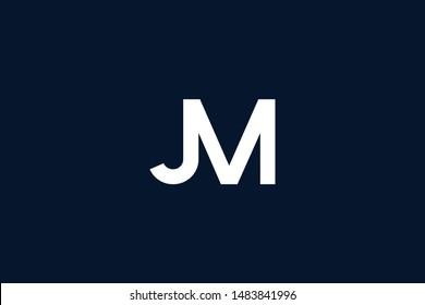 Initial based clean and minimal Logo. MJ JM M J letter creative monochrome monogram icon symbol. Universal elegant luxury alphabet vector design