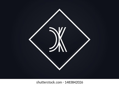Initial based clean and minimal Logo. CK KC C K letter creative monochrome monogram icon symbol. Universal elegant luxury alphabet vector design