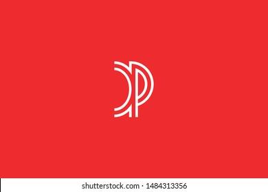 Initial based clean and minimal Logo. CP PC C P letter creative monochrome monogram icon symbol. Universal elegant luxury alphabet vector design