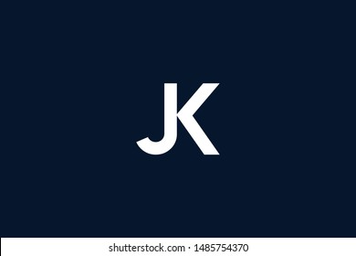 Initial based clean and minimal Logo. KJ JK J K letter creative monochrome monogram icon symbol. Universal elegant luxury alphabet vector design