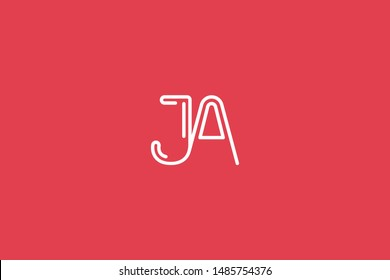 Initial based clean and minimal Logo. AJ JA J letter creative monochrome monogram icon symbol. Universal elegant luxury alphabet vector design