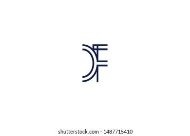 Initial based clean and minimal Logo. CF FC C F letter creative monochrome monogram icon symbol. Universal elegant luxury alphabet vector design