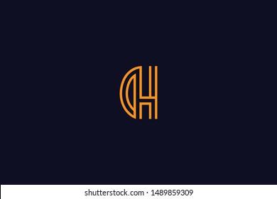 Initial based clean and minimal Logo. DH HD D H letter creative monochrome monogram icon symbol. Universal elegant luxury alphabet vector design